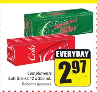 Compliments Soft Drinks 12 X 355 mL