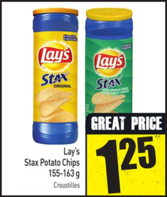 Lay's Stax Potato Chips 155-163 g