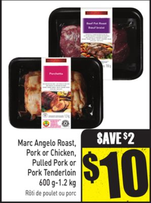 Marc Angelo Roast - Pork or Chicken - Pulled Pork or Pork Tenderloin 600 G-1.2 Kg
