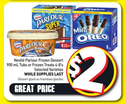 Nestlé Parlour Frozen Dessert 900 mL Tubs or Frozen Treats 4-8's
