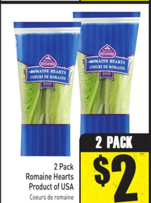 2 Pack Romaine Hearts Product of USA