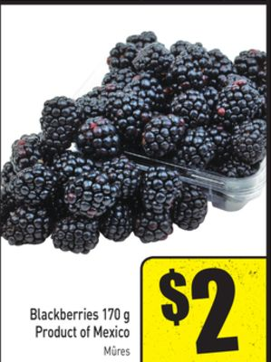 Blackberries 170 g Product of Mexico