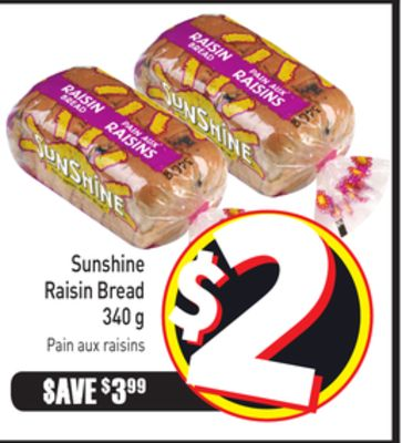 Sunshine Raisin Bread 340 g
