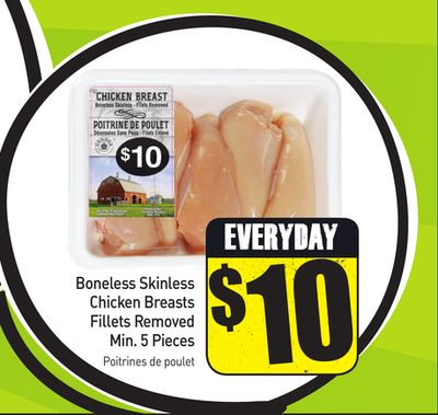 Boneless Skinless Chicken Breasts Fillets Removed Min. 5 Pieces