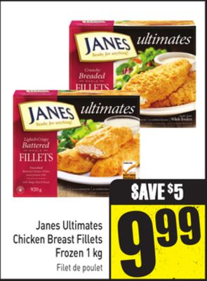Janes Ultimates Chicken Breast Fillets Frozen 1 Kg