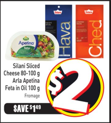 Silani Sliced Cheese 80-100 g Arla Apetina Feta In Oil 100 g