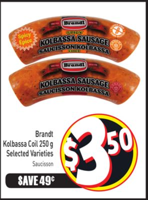 Brandt Kolbassa Coil 250 g Selected Varieties
