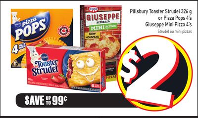 Pillsbury Toaster Strudel 326 g or Pizza Pops 4's Giuseppe Mini Pizza 4's