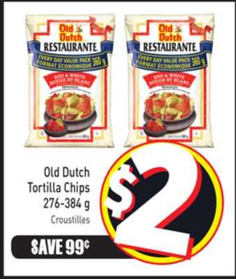 Old Dutch Tortilla Chips 276-384 g