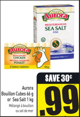 Bouillon Cubes 66 g or Sea Salt 1 Kg