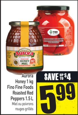 Aurora Honey 1 Kg Fino Fine Foods Roasted Red Peppers 1.5 L