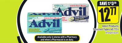 Advil Products Selected Types 40-72's