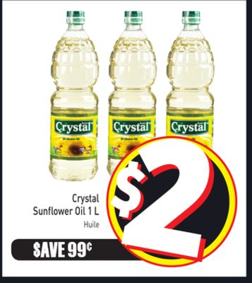 Crystal Sunflower Oil 1 L