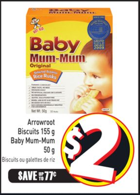 Arrowroot Biscuits 155 g Baby Mum-mum 50 g
