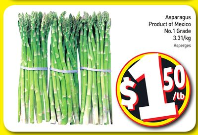 Asparagus Product of Mexico No.1 Grade 3.31/kg