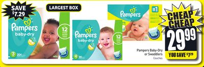 Pampers Baby-dry or Swaddlers