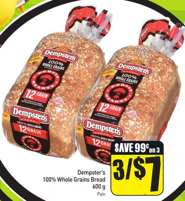 Dempster's 100% Whole Grains Bread 600 g