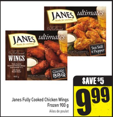 Janes Fully Cooked Chicken Wings Frozen 900 g