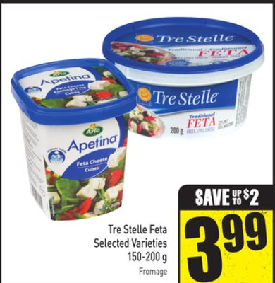 Tre Stelle Feta Selected Varieties 150-200 g