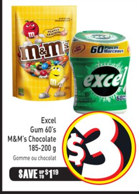 Excel Gum 60's M&m's Chocolate 185-200 g
