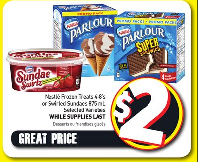 Nestlé Frozen Treats 4-8's or Swirled Sundaes 875 mL