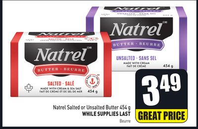 Natrel Salted or Unsalted Butter 454 g