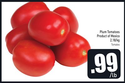 Plum Tomatoes Product of Mexico 2.18/kg