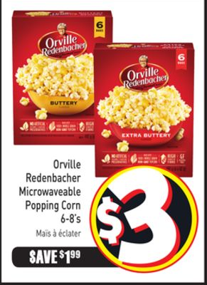 Orville Redenbacher Microwaveable Popping Corn 6-8's