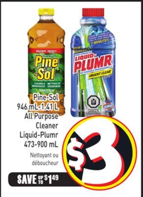 Pine-sol 946 Ml-1.41 L All Purpose Cleaner Liquid-plumr 473-900 mL