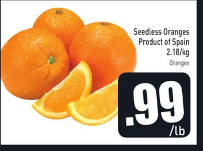 Seedless Oranges 2.18/kg