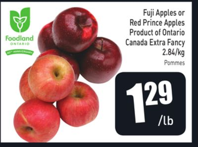 Fuji Apples or Red Prince Apples Product of Ontario Canada Extra Fancy 2.84/kg