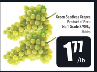 Green Seedless Grapes 3.90/kg