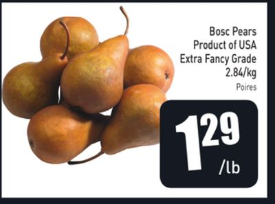 Bosc Pears Product of USA Extra Fancy Grade 2.84/kg