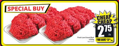 Fresh Lean Ground Beef 6.06/kg