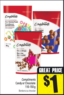 Compliments Candy or Chocolate 110-150 g