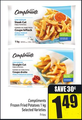 Compliments Frozen Fried Potatoes 1 Kg Selected Varieties