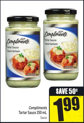 Compliments Tartar Sauce 250 mL