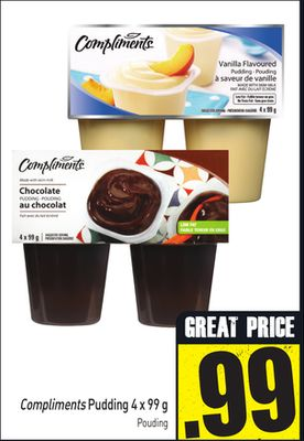 Compliments Pudding 4 X 99 g