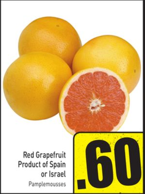 Red Grapefruit Product of Spain or Israel