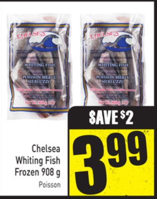 Chelsea Whiting Fish Frozen 908 g
