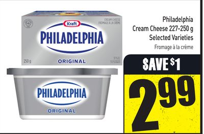 Philadelphia Cream Cheese 227-250 g Selected Varieties
