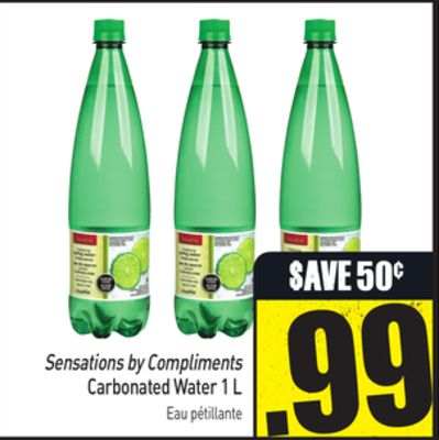 Sensations By Compliments Carbonated Water