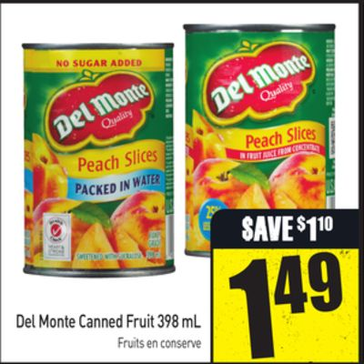Del Monte Canned Fruit 398 mL