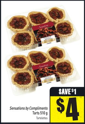 Sensations By Compliments Tarts 510 g