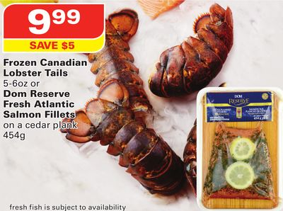 Frozen Canadian Lobster Tails 5-6oz or Dom Reserve Fresh Atlantic ...