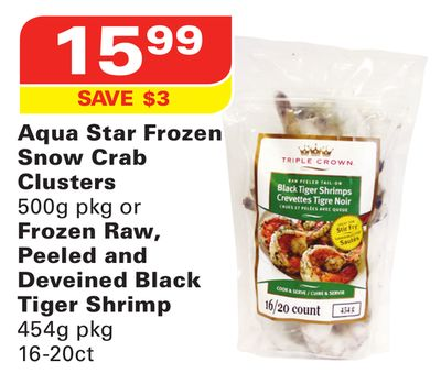 Aqua Star Frozen Snow Crab Clusters 500g Pkg or Frozen Raw - Peeled ...