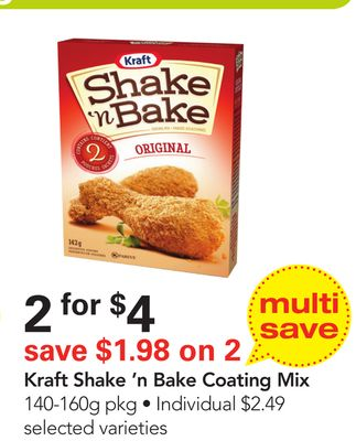 Kraft Shake 'N Bake Coating Mix