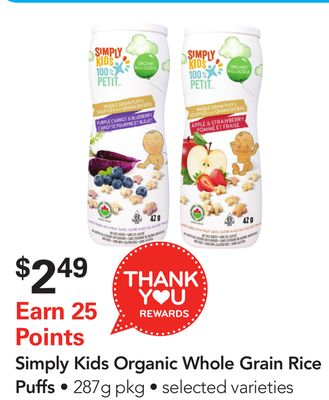Simply Kids Organic Whole Grain Rice Puffs
