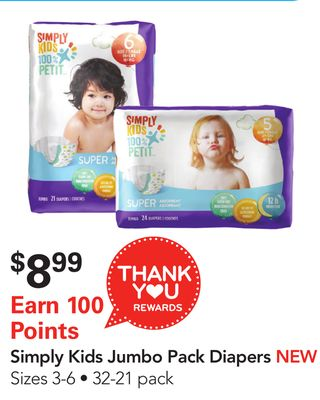 Simply Kids Jumbo Pack Diapers