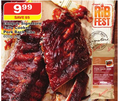 Longo's Signature Fully Cooked Pork Back Ribs